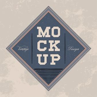 Классический дизайн логотипа макета