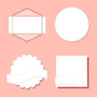 Набор значков и эмблем вектор
