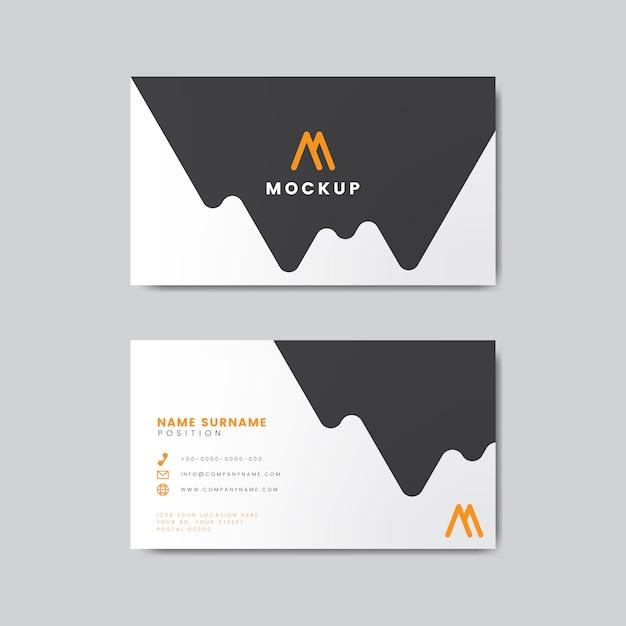 現代の幾何学的名刺デザイン