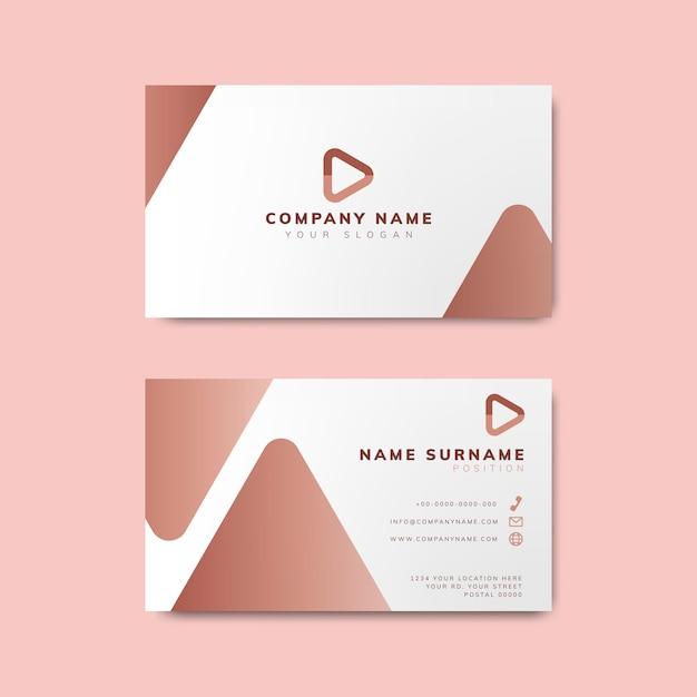 Минимальный дизайн современной визитной карточки