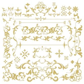 ビンテージ繁栄の装飾フレームベクトル