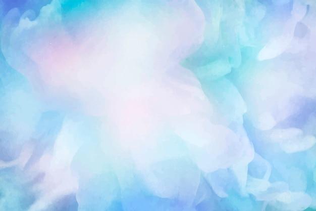 鮮やかな青い水彩画の背景