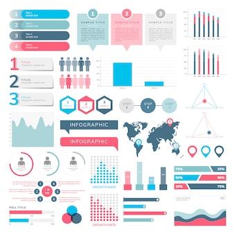 Набор бизнес-инфографических векторов