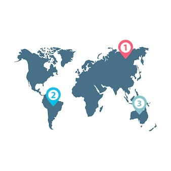 Инфографический вектор распространения мирового бизнеса