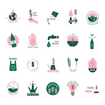 Набор органических и зеленых икон