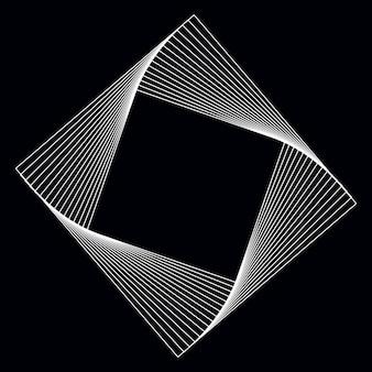 Абстрактный квадратный вектор геометрических элементов
