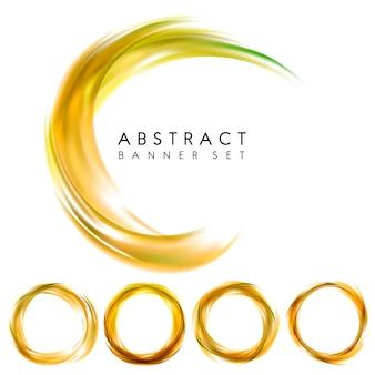抽象的なバナーは黄色で設定