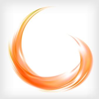 オレンジ色の抽象的なロゴデザイン