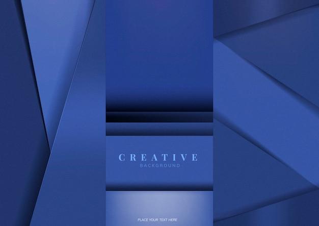青で創造的な背景のデザインのセット