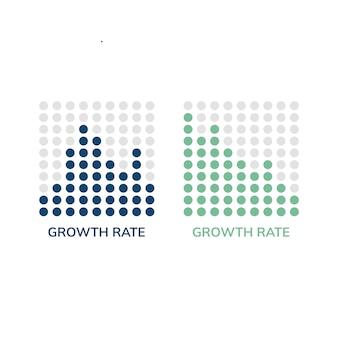 成長率チャート情報ベクトル
