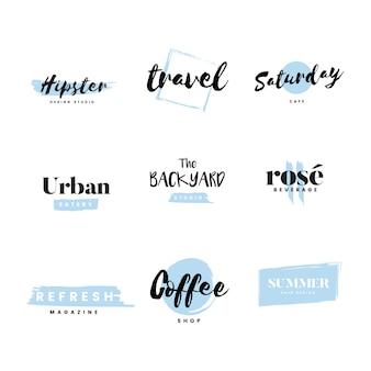 Коллекция логотипов и вектор брендинга