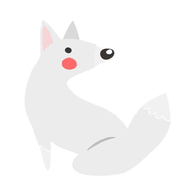 野生動物のイラストの描画スタイルのセット