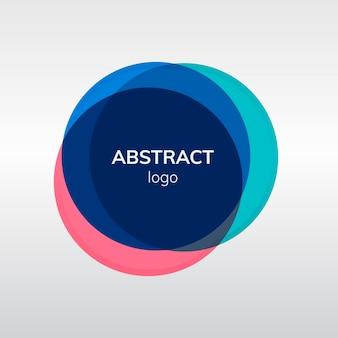 カラフルな抽象的なバッジロゴデザイン