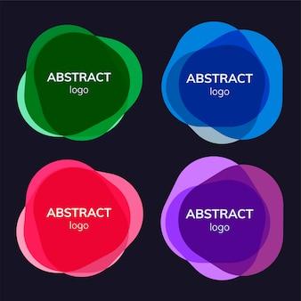 抽象的なバッジデザインのセット