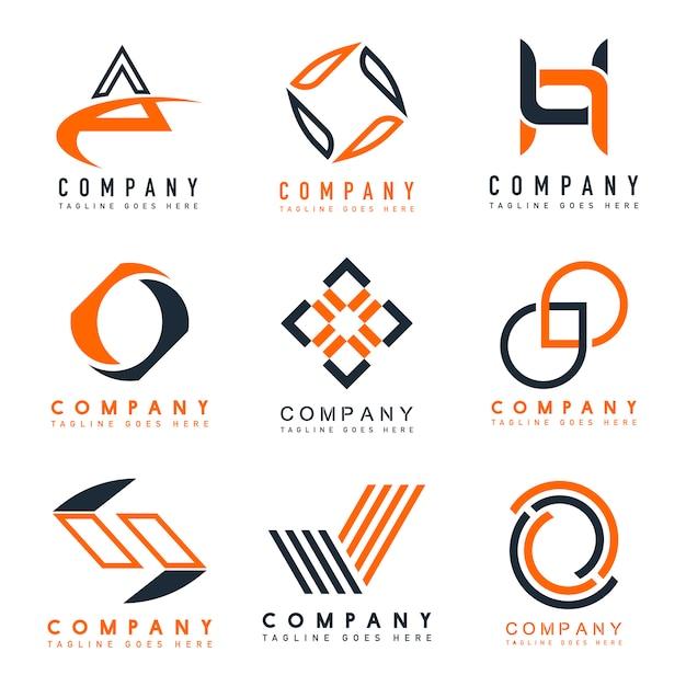 Набор векторных идей дизайна логотипа компании