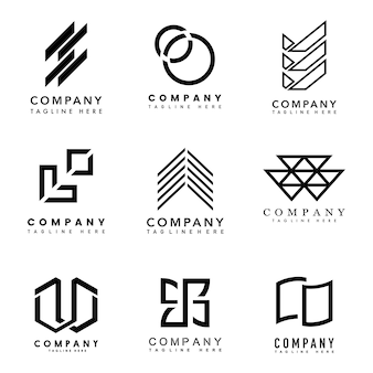 会社ロゴデザインのアイデアベクトルのセット