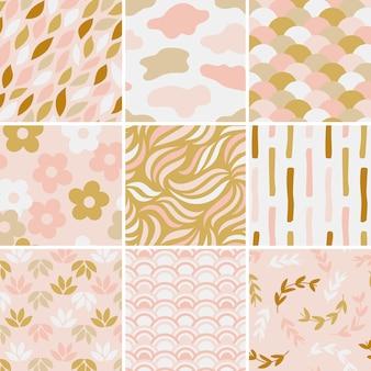 シンプルなパターンベクトルイラストのコレクション