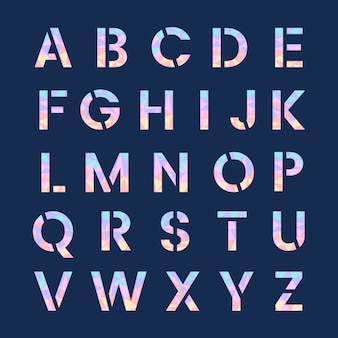 英語アルファベット大文字ベクトル