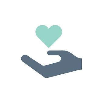 寄付支援アイコンのイラスト