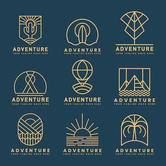 冒険ロゴベクトルのセット