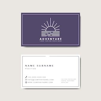 Макет дизайна визитной карточки премиум-класса