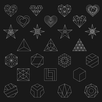 幾何学的形状の線図