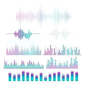 Набор векторных проекторов эквалайзера звуковой волны