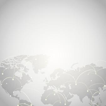 Всемирная связь серый фон иллюстрация вектор