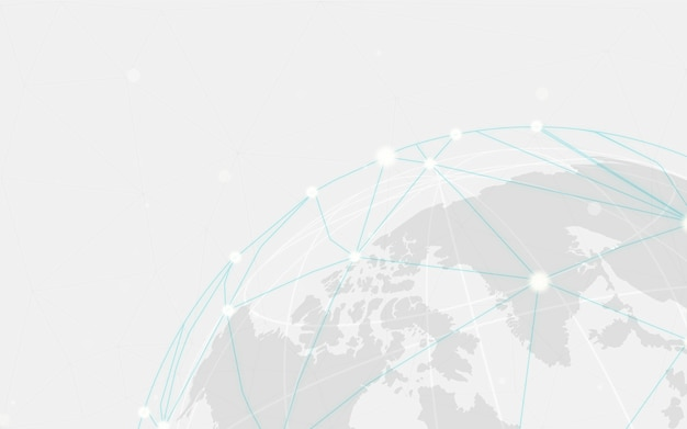 世界的な接続灰色の背景イラストベクトル