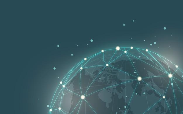 Всемирная связь синий фон иллюстрация вектор