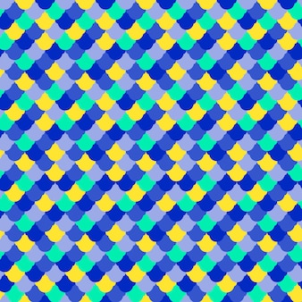 魚の皮膚のシームレスなパターンのベクトル