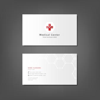 Макет медицинского дизайна для визитных карточек