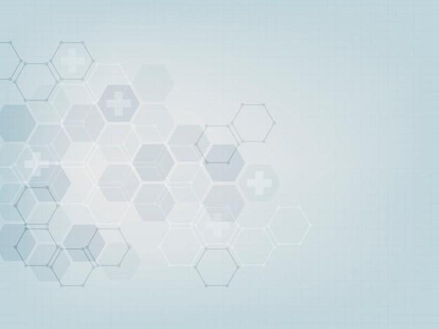 抽象的な医療の壁紙のテンプレートデザイン