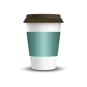 Чашка с горячим напитком с векторным рукавом макета