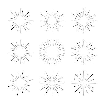 花火の爆発ベクトルのセット