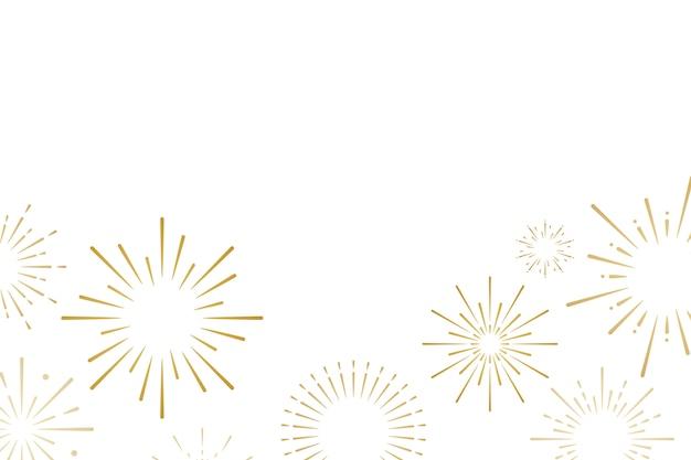 花火の爆発の背景デザインベクトル