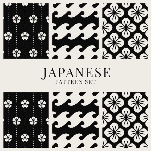 日本風パターンベクトルセット