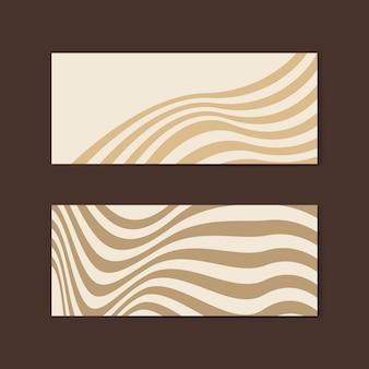 ベージュの抽象的なバナーデザインベクトル