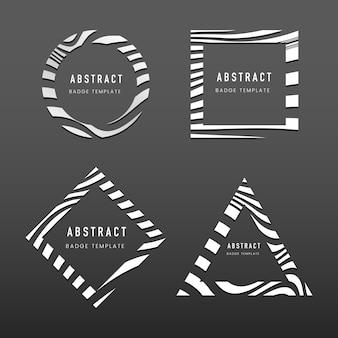 抽象的なバッジテンプレートベクトルのセット