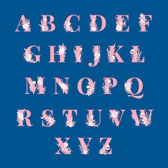 Набор векторных заглавных букв