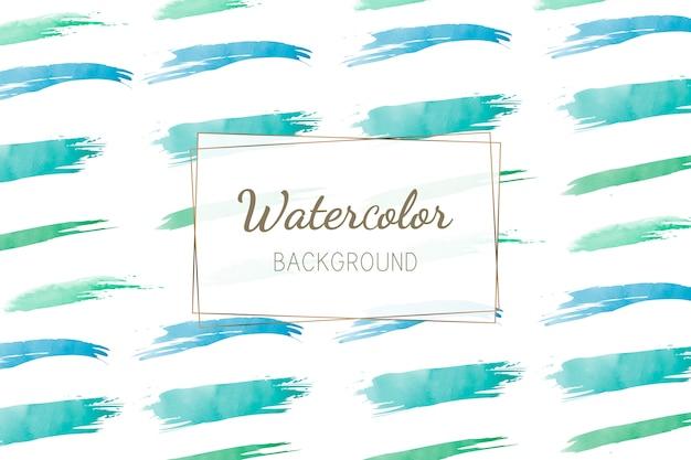 パステル緑色の水彩画の背景ベクトル