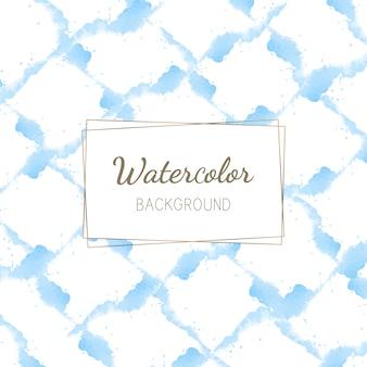 パステルブルーの水彩画の背景ベクトル