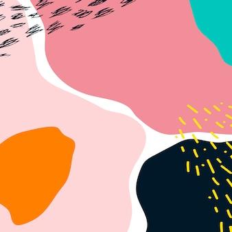 カラフルなメンフィスのデザインの背景ベクトル