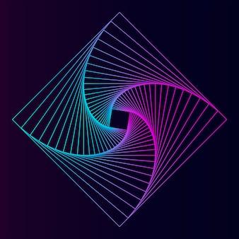 Абстрактный квадратный геометрический элемент