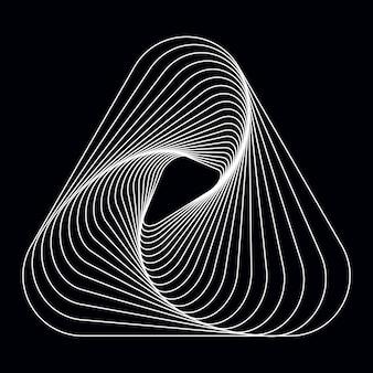 Абстрактный динамический узор обои