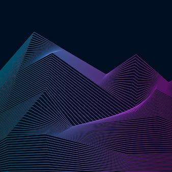 データ視覚化動的波パターン