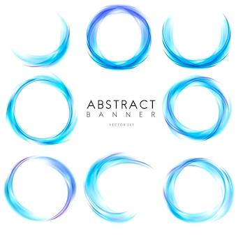 Абстрактный баннер в синем