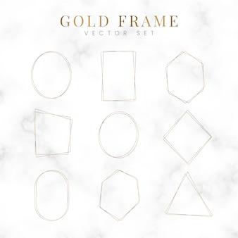 Набор пустой золотой рамки