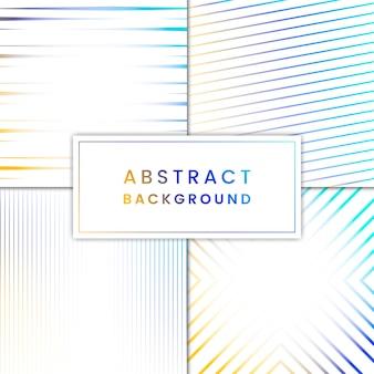 青と黄色の抽象的な背景ベクトルセット