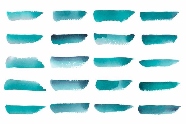 緑の抽象的な水彩画を描いた